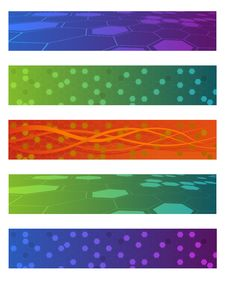 Free Set Of Vector Abstract Banners Royalty Free Stock Photos - 6203438