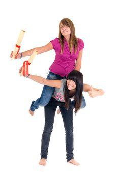 Free Teenager Schoolgirls Stock Photos - 6203513
