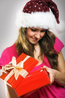 Free Christmas Portrait Of A Woman Stock Photography - 6203552