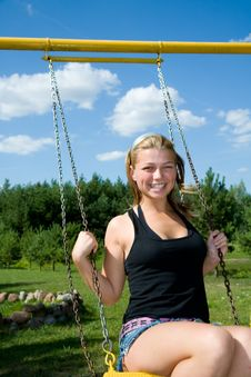 Free The Girl On A Seesaw Royalty Free Stock Photos - 6203618
