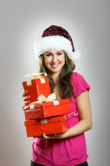 Free Christmas Portrait Of A Woman Stock Photos - 6203653