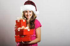 Free Christmas Portrait Of A Woman Stock Photo - 6203670