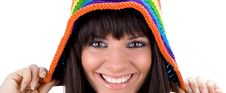 Free Brunette With Variegated Gap Royalty Free Stock Image - 6203786