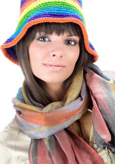 Free Brunette With Variegated Gap Royalty Free Stock Photo - 6203835
