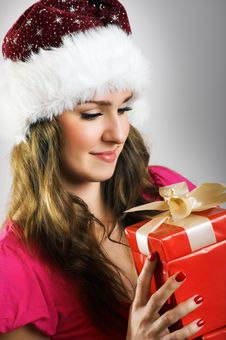 Free Christmas Portrait Of A Woman Royalty Free Stock Photo - 6204065