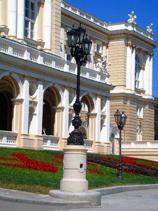 Odessa Opera Theatre. Lanterns. Royalty Free Stock Image