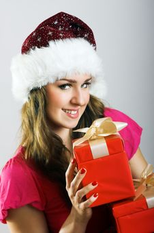Free Christmas Portrait Of A Woman Royalty Free Stock Photo - 6204375