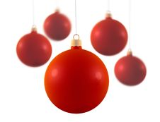 Red Christmas Decoration Stock Photo