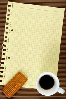 Free Paper,coffee, Biscuits Stock Photos - 6204673