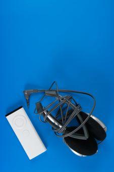 Player And Headphones Stock Photo