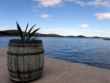 Barrel In Port Stock Image