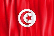 Waved Tunusia Flag Stock Photos