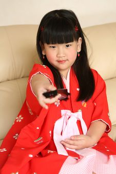 Free Chinese Little Girl Royalty Free Stock Photos - 6206418