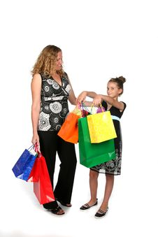 Free Mother And Daughter With Shopping Bags Stock Images - 6206994
