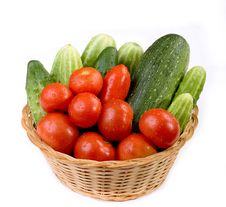 Free Vegetables In The Basket Stock Image - 6207001