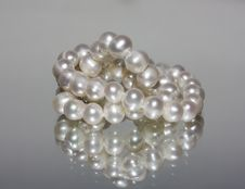 Small Pile Of Pearl Beads Stock Images