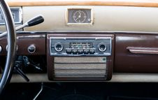 Free Clase View Of An Ancient Dashboard Royalty Free Stock Image - 6208346