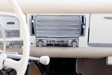 Free Partial View Of A White Ancient Dashboard Stock Images - 6208354