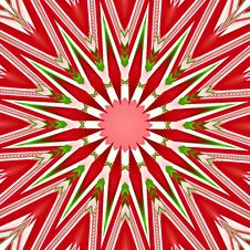 Christmas Star Mandala Royalty Free Stock Photography