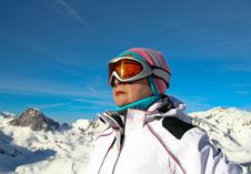 Free Meditating At The View Winter Mountain Royalty Free Stock Photos - 6209668