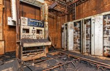 Free Abandoned Rust Control Panel Royalty Free Stock Images - 62016089