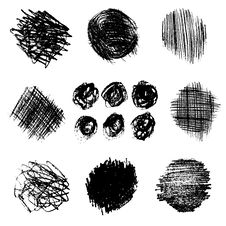 Free Vector Set Of Pencil Hatching 3 Royalty Free Stock Photography - 62072147