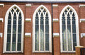 Free Three Stained Glass Windows Royalty Free Stock Photography - 6216867