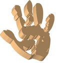 Free Handprint Royalty Free Stock Photography - 6219717