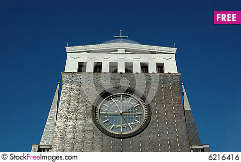Free Church With Clock In Prague Royalty Free Stock Image - 6216416