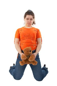 Free Young Woman With Toy Stock Photography - 6210062