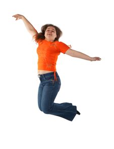 Free Young Woman Jumping Stock Photography - 6210072