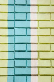 Free Green And Blue Bricks Royalty Free Stock Photography - 6210467