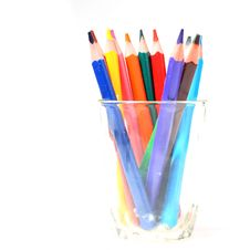 Free Color Pencil In Glass Royalty Free Stock Image - 6210656