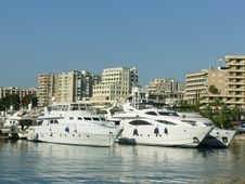 Free Yachts In The Harbour Stock Photo - 6210740