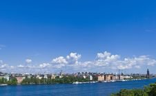 Free View Over City And Water Stock Images - 6210764