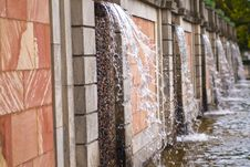 Free Red Rippling Fountain Stock Photo - 6210810