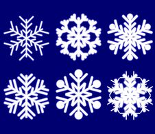 Free Beautiful Luminous Snowflakes. Stock Images - 6211224