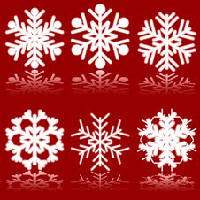 Free Beautiful Luminous Snowflakes. Royalty Free Stock Photography - 6211227
