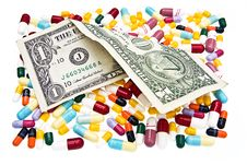 Free Pills And One Dollar Stock Photo - 6211340