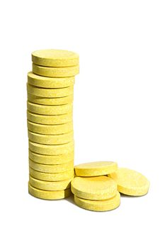 Free Stack Of Yellow Tablets Royalty Free Stock Photos - 6211348