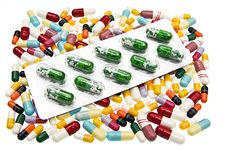 Free Pills On A White Background Stock Photography - 6211372