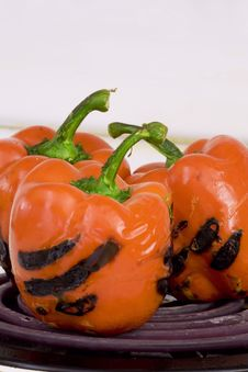 Free Roasting Peppers Stock Photography - 6212252