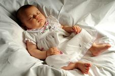 Free Little Baby Sleeping Stock Photo - 6212300