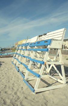 Free Lifeguard Towers Stock Photo - 6212310