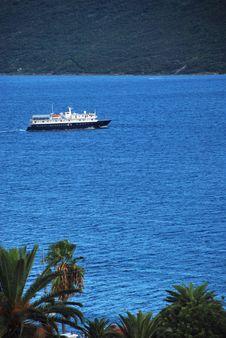 Boat At Sea Royalty Free Stock Photos