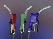 Gas Nozle 3d Royalty Free Stock Photo