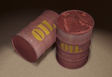 Free Oil Barrels 3d Royalty Free Stock Photography - 6212847