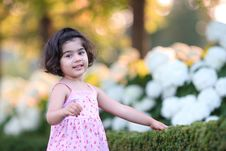 Free Girl In Flower Garden Royalty Free Stock Photos - 6213018