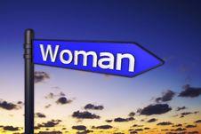 Sign Woman Stock Photos