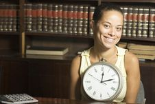 Free Smilimg Student With Clock - Horizontal Stock Photography - 6213572
